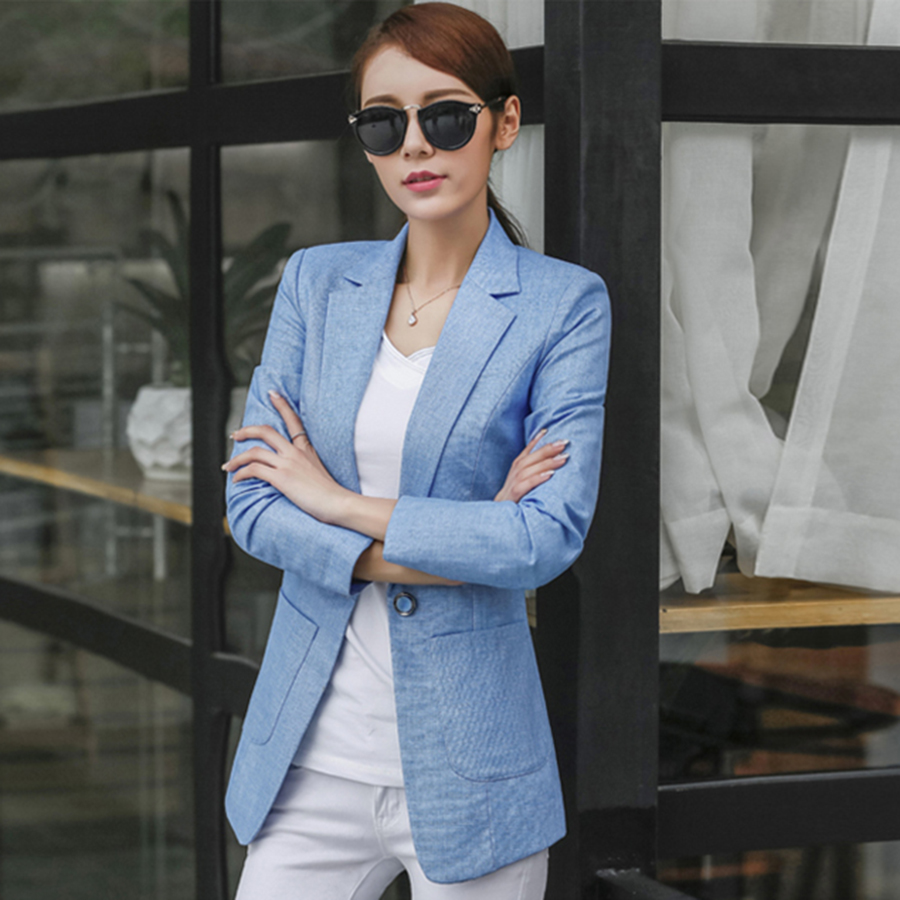 Plus Size Casual Cotton Women Blazer Coat Blazers And Jackets Jaqueta Feminina Inverno Office Suits Female Business Suit 60N0432