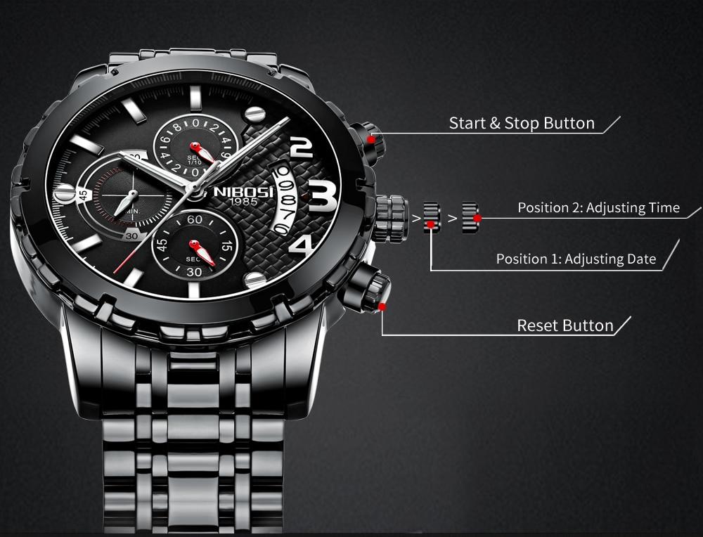 SportArmy Watch For Men Watches 2018 Waterproof Watch Men\`s Wrist Quartz Analog Watch Stainless Steel (9)