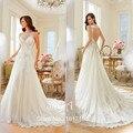 2016 Long Wedding Dress Vestido De Noiva Vestito Da Sposa Open Back Appliques Train White Ivory Wedding Dress Hot Sale