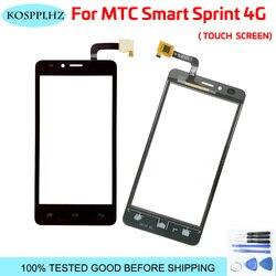 100% testowane telefon komórkowy szkło dotykowe ekran dotykowy dla MTC Smart Sprint 4G dotykowy digitalizator do szkła ekranu Panel obiektywu czujnik + narzędzia