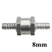 8 мм алюминиевый хромированный сплав топлива обратный клапан односторонний бензин для дизельного топлива