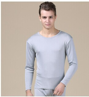 Pure silk underwear suits Male silk thermal underwear long Johns The new winter