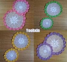 Luxury cotton placemat cup coaster mug kitchen Christmas dining table place mat cloth lace Crochet tea coffee doily drink pad