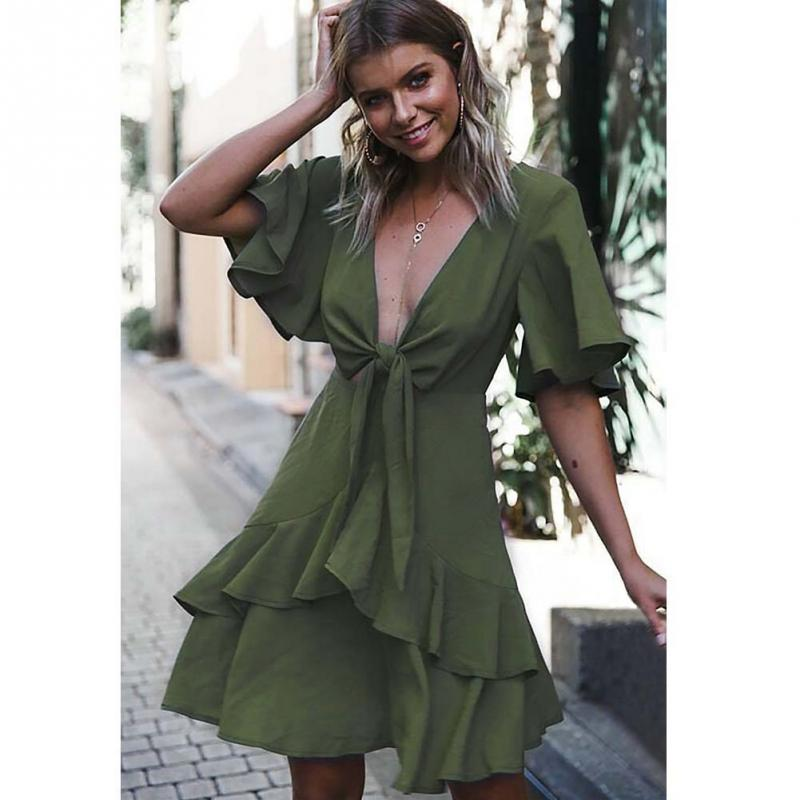 920aa72b76a95 معرض vintage summer ruffle hem mini dress بسعر الجملة - اشتري قطع vintage  summer ruffle hem mini dress بسعر رخيص على Aliexpress.com