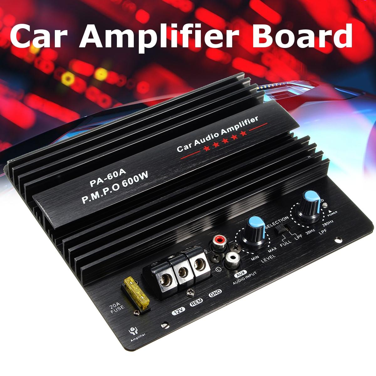 New Audew 600W Car Mono Amplifier Board Home Vehicle Subwoofer Speaker Super Bass Auto Audio Subwoofers Amp Car Audio Stereo auto audio