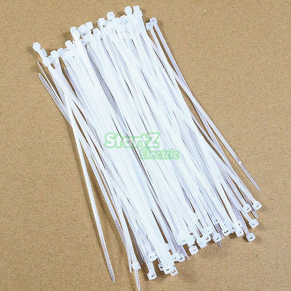 250pcs/500Pcs/bag 4X (150,200,250,300)mm Self-Locking White Nylon66 Wire Cable Zip Ties.cable Ties SGS Certificated