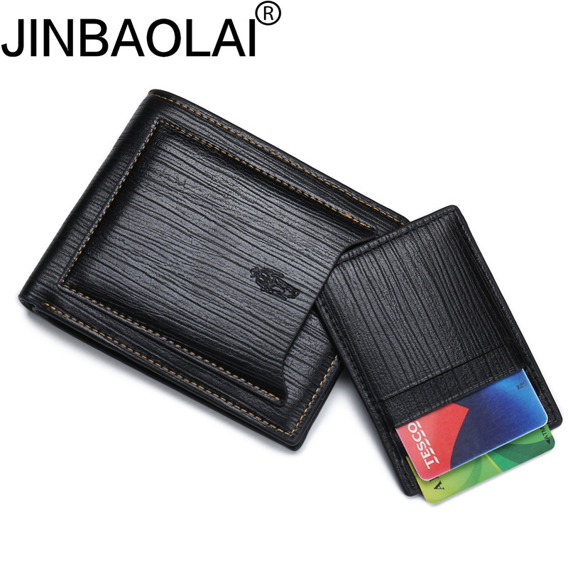 Fashion Men Wallet Male Purse Small Perse Short Walet Slim Cuzdan For Vallet Thin Money Bag Badge Credit Business Card Holder