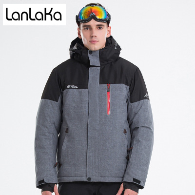 LANLAKA 2018 New Brand Ski Jacket Men Winter Waterproof Coat High-Quality Snowboarding jackets 4 Color Optional Ski Jackets Male winter men jacket new brand high quality candy color warmth mens jackets and coats thick parka men outwear xxxl