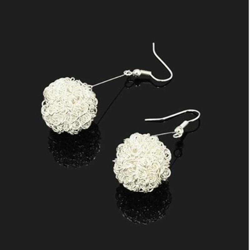 E051 Cute human heat recommend personalized golf ball earrings chic earrings pierced earrings South Korean ear jewelry