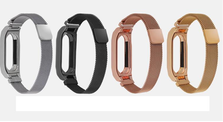 2018 Milanese loop Stainless Wrist Strap For Xiaomi Mi Band 2 3 Miband 3 2 Wrist bands Bracelet Wrist Straps Metal Belt for xiaomi mi band 3 bracelet strap for mi band 3 wrist band miband 3 smart watch strap belt stainless milanese loop wrist bands