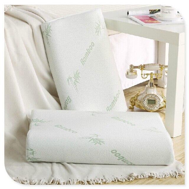 bamboo slow rebound health care memory foam throw fiber pillow travesseiro almohada bedding homeneck cervical healthcare