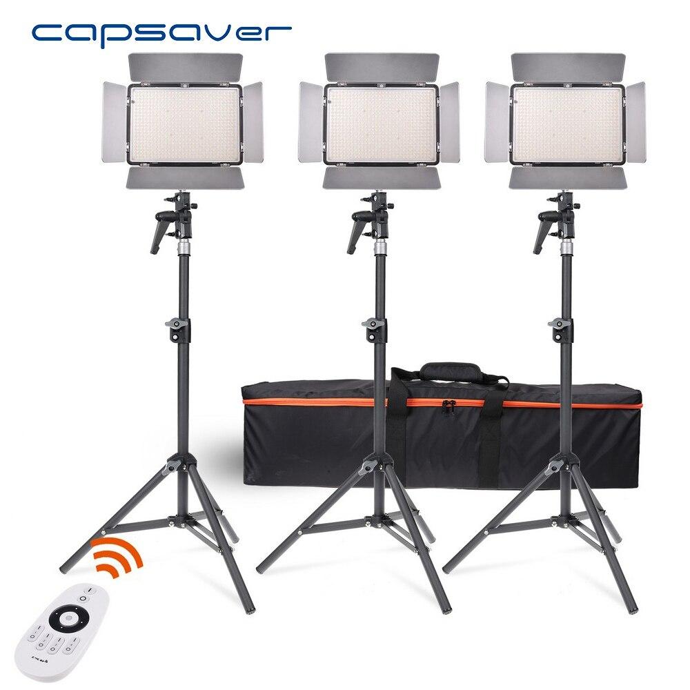 capsaver TL-600AS LED Video Light 3 in 1 Kit Photography Lighting Bi-color Dimmable 3200K-5600K CRI 95 Remote Control NP-F550 keyshare dual bulb night vision led light kit for remote control drones