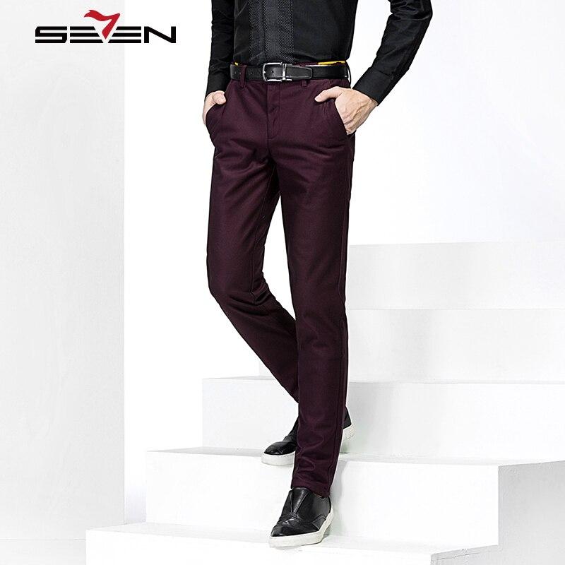 abd4783541 Pantalón Clásico Vestido Para Traje Pantalones Fit Marca Hombres Los Hombre  Negocios Seven7 Slim 708b78050 Algodón ...