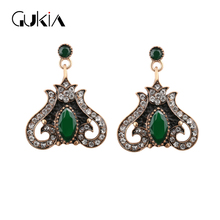 2016 Fashion Jewelry Earrings For Women Indian Wedding Jewelry Water Drop Pendant Red Earrings Christmas Black Friday Gifts(China)