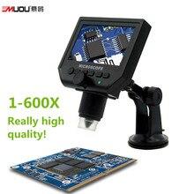 Портативный USB ЖК-Цифровой Микроскоп Увеличить 1-600X Непрерывное Увеличение Литиевая Аккумуляторная Батарея Видеокамера LED