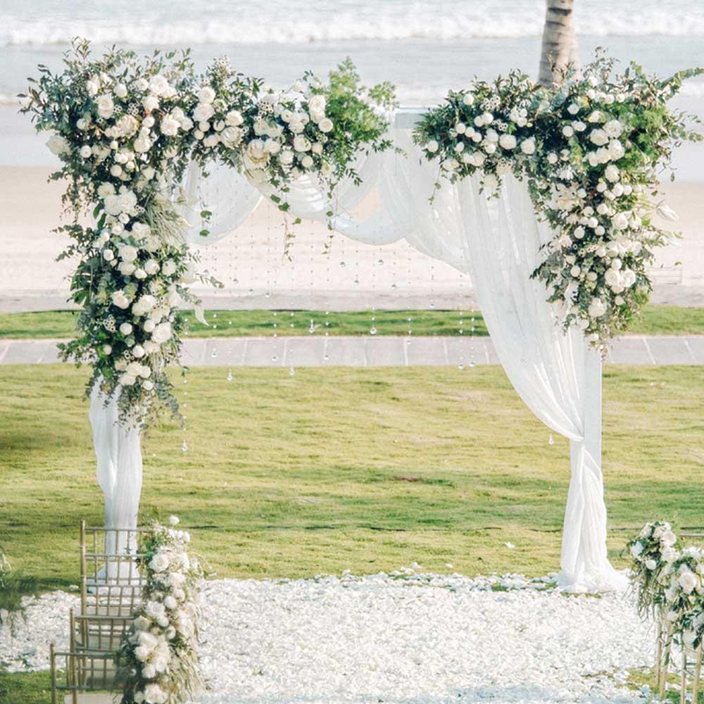 0.8/1.2 m arc de mariage toile de fond Arrangement de fleurs fête événement décor fleurs artificielles mur soie Rose pivoine plante bricolage guirlande