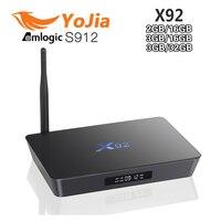 10pcs 3GB 16GB 2GB 16GB Amlogic S912 X92 Android 6 0 TV Box Octa Core Kodi