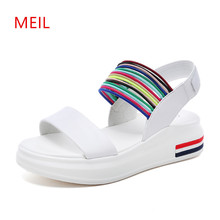 Woman Sandals 2018 Summer Gladiator Women Students Wedges Shoes For Ladies Platform Peep Toe Thick Soled