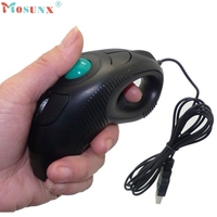 2 4GHz Wired USB Handheld Mouse Finger Using Optical Track Ball Free Shipping Sep1