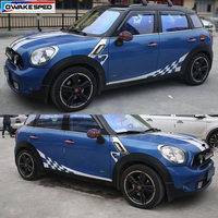 Racing Lattice Door Side Skirt Strip Decal Car Body Sticker For MINI Cooper S Countryman Clubman Paceman R56 R60 R61 F54 F55 F56