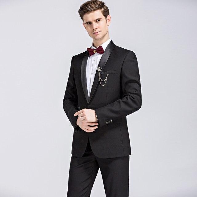 Online Shop Plyesxale Suit Men 2018 Shawl Collar Groom Wedding ...