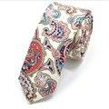 5 cm Corbata Delgada Ocasional de Lino de Algodón Corbata Sentimientos Amorosos Tropicales Estudiante Flaco Estrecho Floral de La Vendimia de Los Hombres Del Banquete de Boda