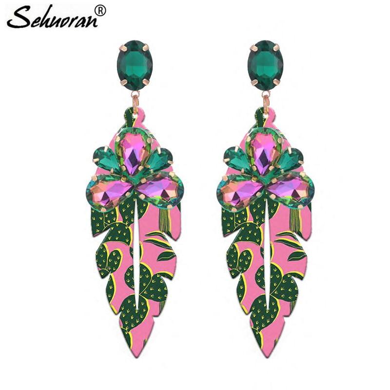 Sehuoran Oorbellen Drop Earrings For Woman Earrings Pendientes Mujer Moda 2018 Brinco Fashion Jewelry Statement Earrings Gifts