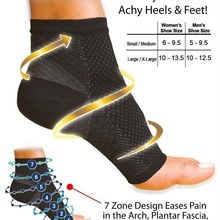 Для женщин лодыжки каблуки поддержка мужчин сжатия стопы ангел рукав пятки супинатор боли