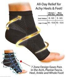 1 paar Frauen Ankle Heels Unterstützung Männer Compression Fuß Engel Sleeve Ferse Arch Support Pain Relief 2PCS