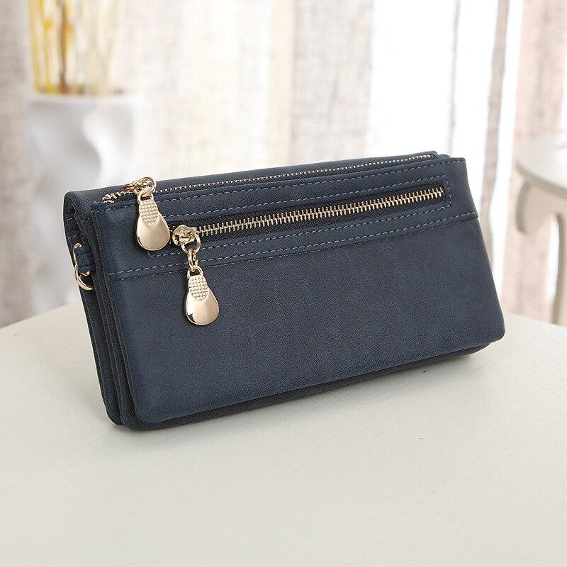 High Capacity Fashion Women Wallets Polish PU Leather Wallet Female Double Zipper Clutch Coin Purse Ladies Phone Bag Wristlet цена