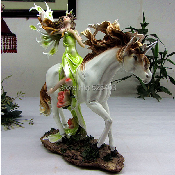 Buy Doll Furnishing Articles Resin Crafts Home Decoration: Unique European Resin Crafts Toy Flower Fairy Angel Riding