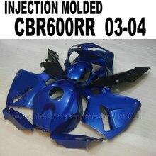 Пользовательские moto Для Литья Под Давлением обтекатели комплекты для 2003 Honda CBR 600 RR 2004 CBR600RR 03 04 cbr600 темно-синий обтекателя кузова комплект