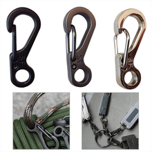 EDC SF mini spring hike survive paracord clasp hook tactical keyring backpack hang Quickdraw Carabiner camp mountain climb gear