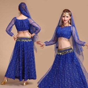 Image 2 - Conjunto de fantasia de dança oriental, traje de dança do ventre oriental, apresentações de palco, vestido oriental, conjunto de traje para dança do ventre feminino