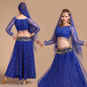 Image 2 - Luxury Indian Dance Costumes Sets Stage Performances Dress Orientale Belly Dance Costume Set For Women Oriental Dance Costumes