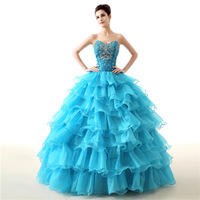 New In Stock Ball Gown Cheap Quinceanera Dresses Organza With Beads Sequined Sweet 16 Dress For 15 Years Debutante Gown