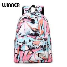 Mode Hochwertige Damen Taschen Designer Frauen Wasserdichte Rucksack Lässig Tuschemalerei Mädchen Koreanische Laptop Rucksack