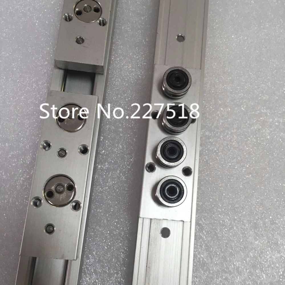 2pcs Double axis roller linear guide SGR10 L1100mm 4pcs SGB10UU 4 wheel block L88 multi axis