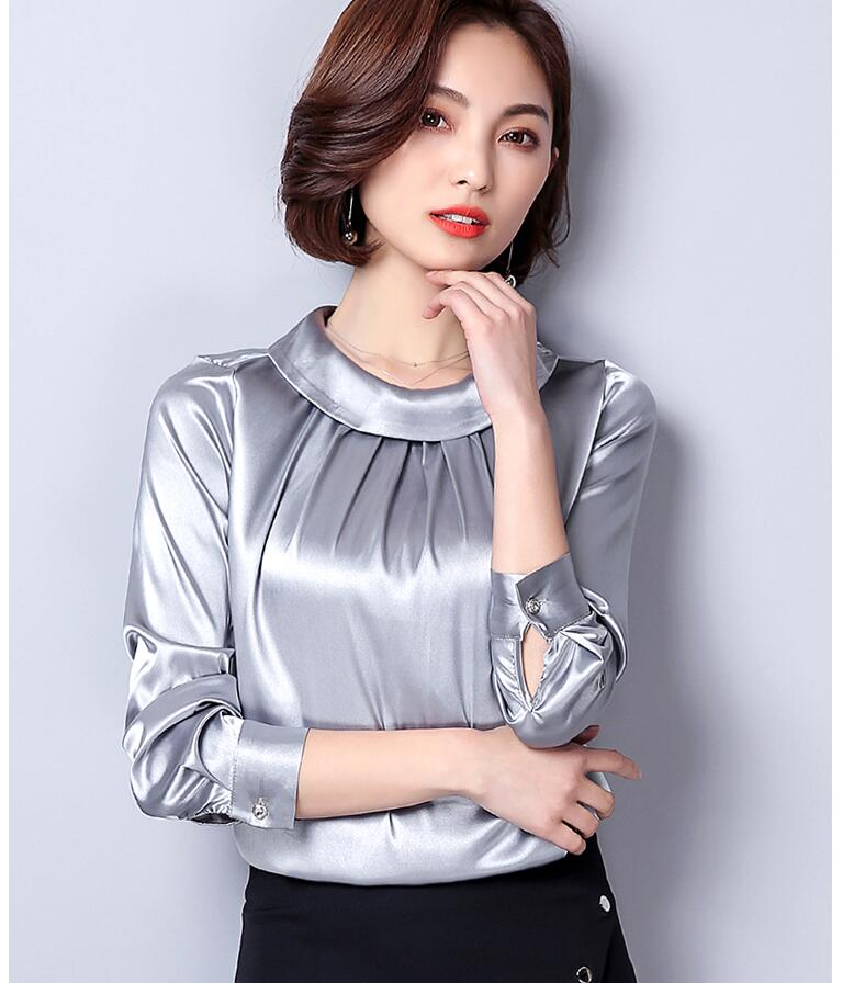 8085d9e91 2019 Primavera Mujer Blusa de seda Manga larga Moda Mujer Tops y blusas OL  Oficina Chemise Femme Tallas grandes Camiseta Mujer Tops 3XL
