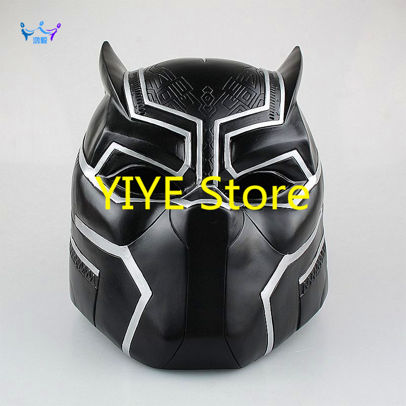 Action & Toy Figures Captain America Civil War 1/1 Scale Painted Figure Hallowmas Cosplay Black Panther Helmet Pvc Actionfigure Ag131 Drip-Dry