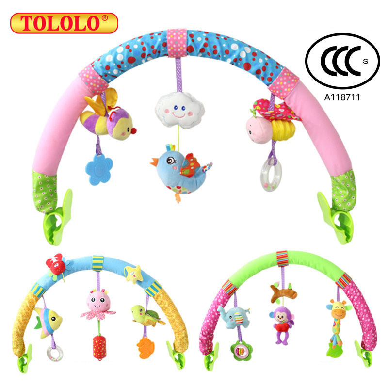 TOLOLO 1pcs Baby Hanging Baby Bird And Purple Monkey Music Toy Bed & Stroller Toy Baby Rattle Gifts