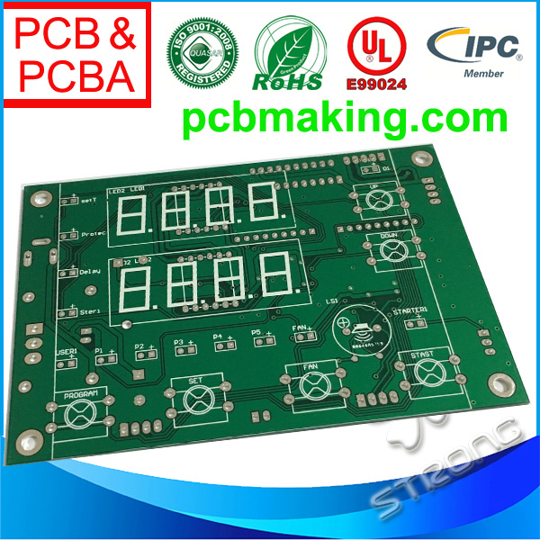 FR4 Material Bare PCB with HASL,white/blue/red Soldermask
