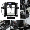 High Precision Automatic Leveling DIY 3D Printer Acrylic Lead Screw Frame Large Print Size 220*220*250mm EU Plug 4