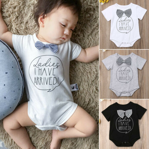 2019 Baby girl boy summer clothing I have arrived letter   Romper   Jumpsuit Sunsuit Outfit for Kid clothes toddler Children newborn
