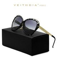 Veithdia lega tr90 lente a specchio di guida occhiali da sole polarizzati delle donne delle signore di lusso designer occhiali da sole per le donne 8012