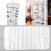 Double Sides 72-Grids 42*84cm Home Jewellery Hanging Storage Bag Necklace Earrings Organizing Bag Accessories organizers