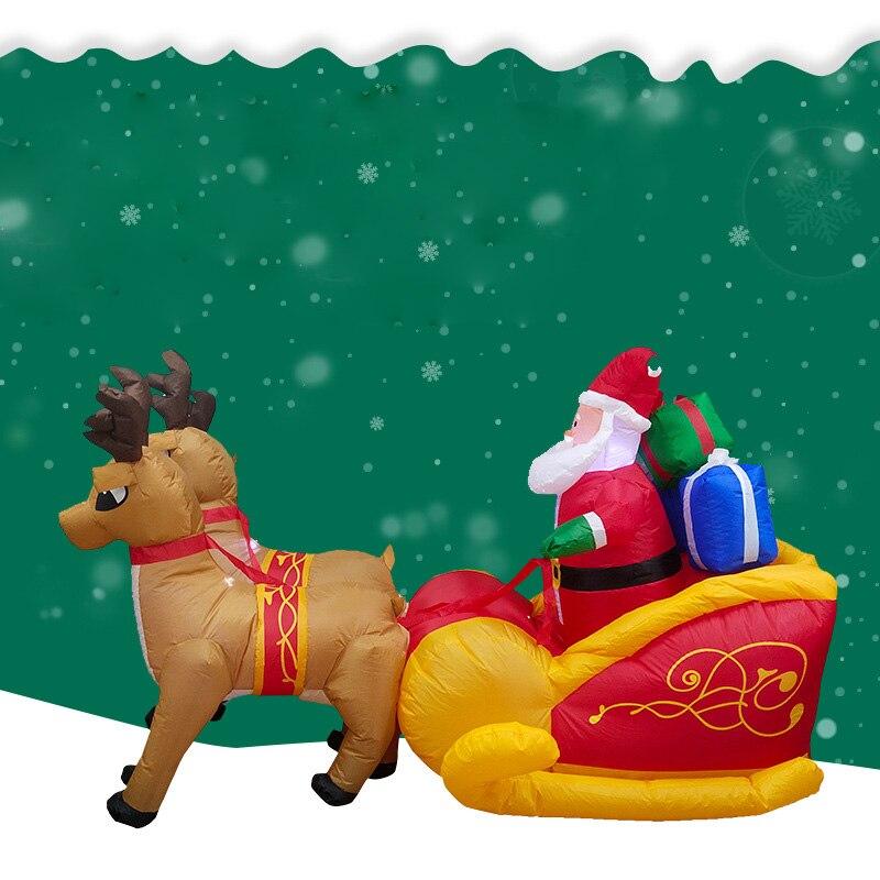 Decoraciones de patio de Navidad ciervos trineo Santa Claus aire decoraciones de Acción de Gracias para el hogar decoraciones de Navidad decoración de Año Nuevo