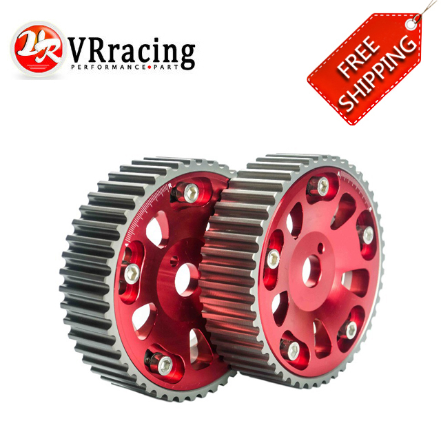 FREE SHIPPING 1pair 2pc RED FOR Toyota 3S GTE MR2 CELICA CALDINA Adjustable Cam Gear VR6533R