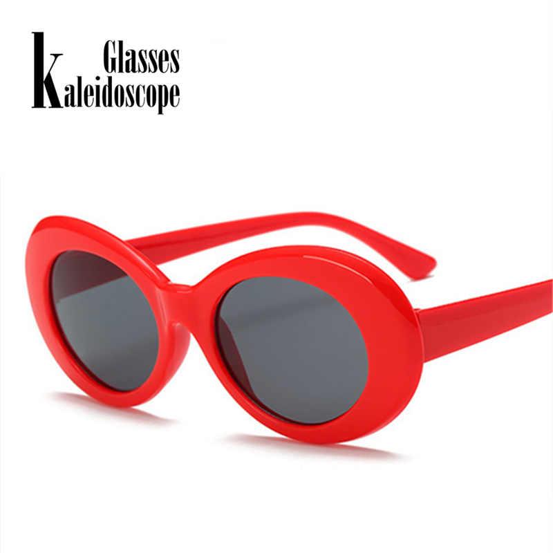 9681dd3606 Clout Goggles Sunglasses Men NIRVANA Kurt Cobain Glasses Women Retro Neff  Small Oval Round Tint Alien