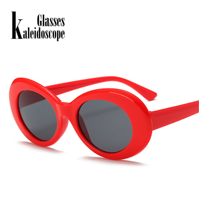 8bbc44bfa52 Clout Goggles Sunglasses Men NIRVANA Kurt Cobain Glasses Women Retro Neff  Small Oval Round Tint Alien Eyewear Shades UV400